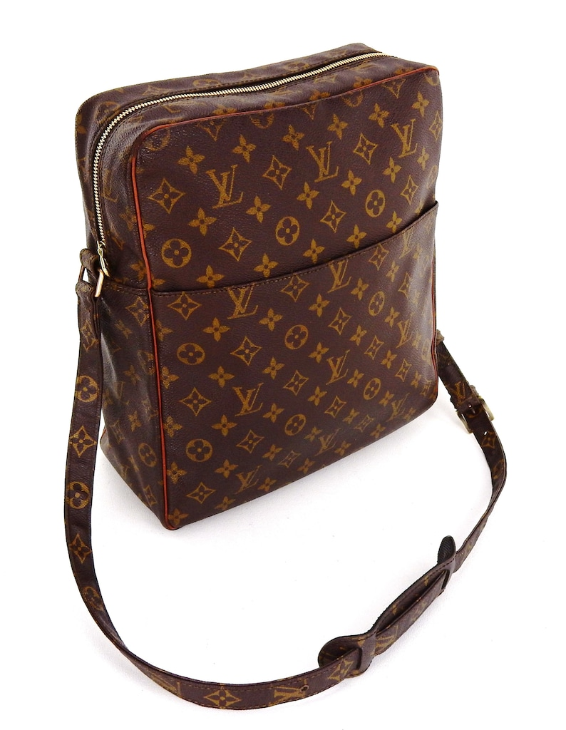 2324a4231e47 Authentic Vintage Louis Vuitton Brown Monogram Canvas Leather