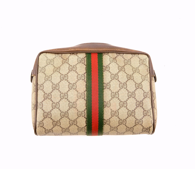 b35989cd626 Authentic Vintage Gucci Supreme Web GG Monogram Canvas Leather