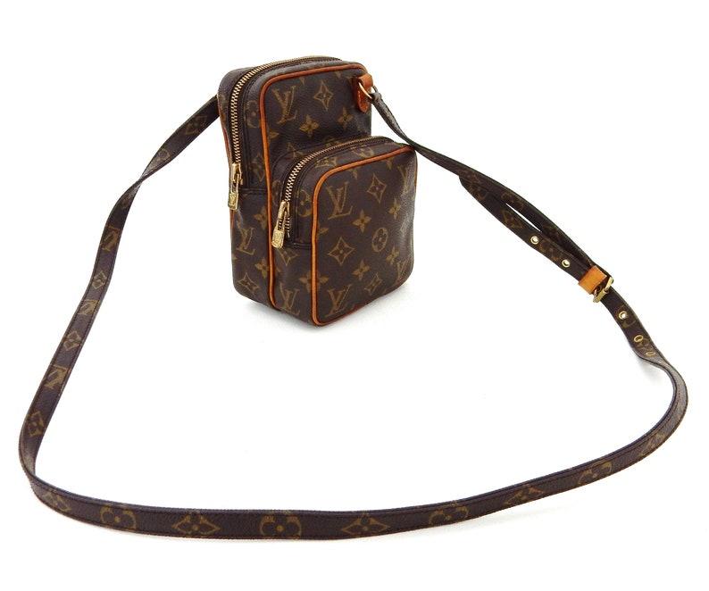 ad4a1ddfcfe1 Authentic Vintage Louis Vuitton Brown Monogram Canvas Leather