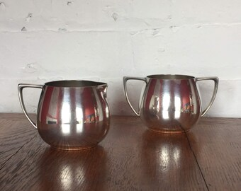 Nobility Plate Silver Plated Creamer and Open Sugar