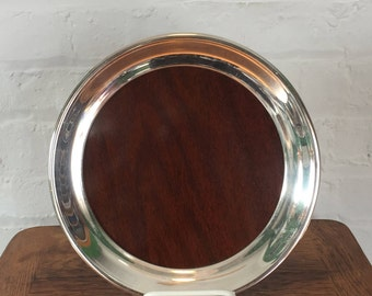 FB Rogers Silver Co Mid-Century Modern Drinks Tray - Small