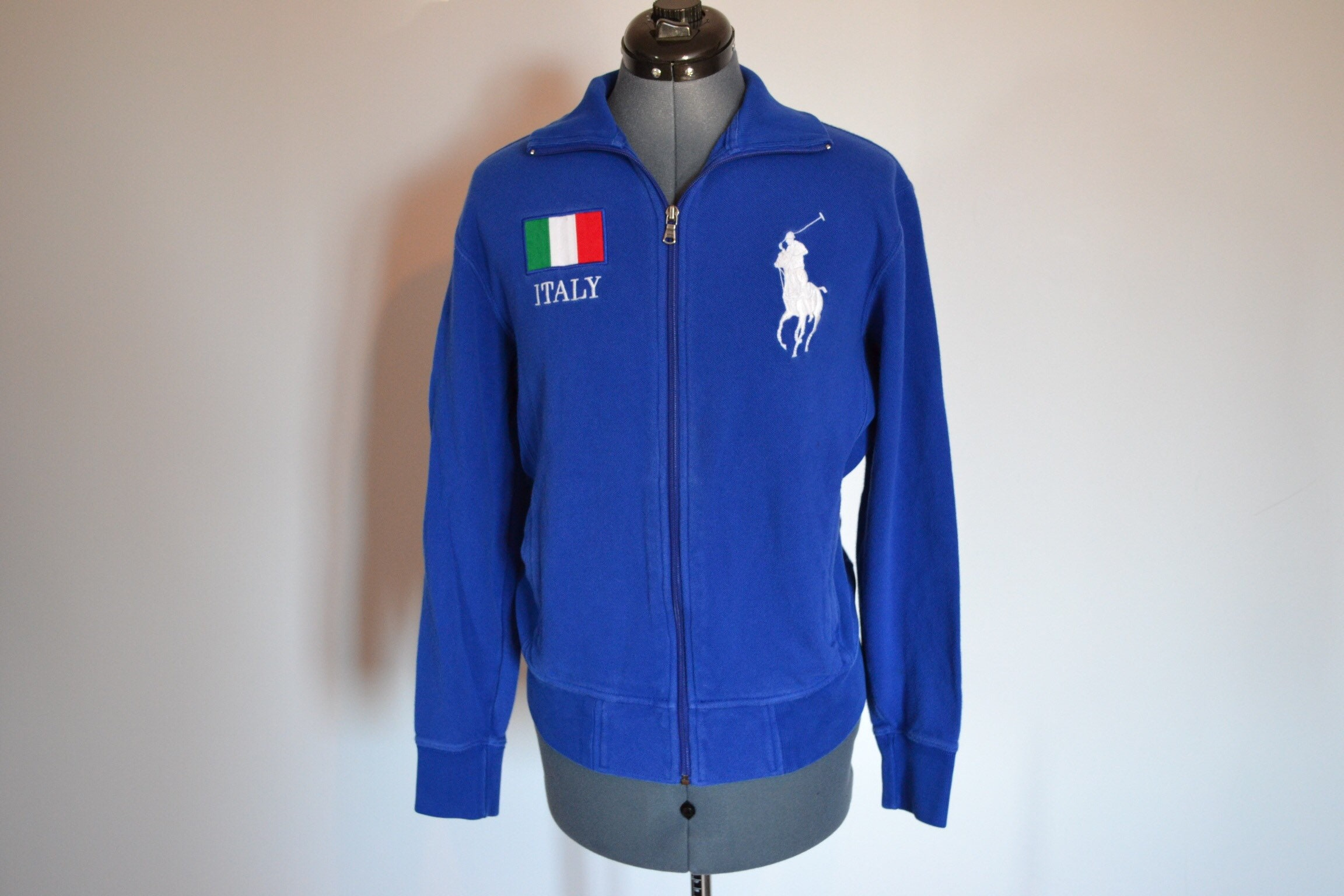 Vintage Polo Ralph Lauren Italy Zip Up Sweatshirt Size Small Etsy