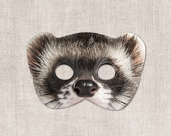Ferret Printable Mask, Ferret, Photo-Real Ferret Mask, Halloween Mask, Printable Mask, Ferret Costume, 2 Sizes, Zoom Prop, Zoom Mask