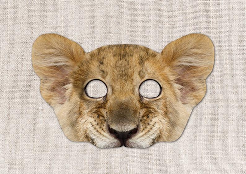 Simba Printable Mask, Lion Cub, Simba, Photo-Real Simba Mask, Halloween  Mask, Printable Mask, Lion King, 2 Sizes, Simba Costume, Lion, Cub