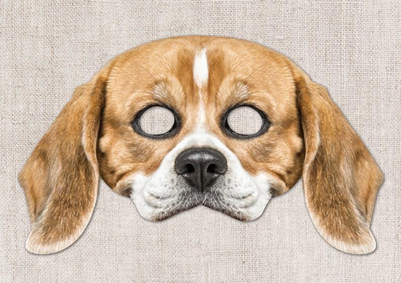 photo about Printable Dog Masks titled Beagle Printable Mask, Canine, Beagle, Image-Correct Pet dog Mask, Halloween Mask, Printable Mask, Minimal Doggy Gown, 2 Measurements