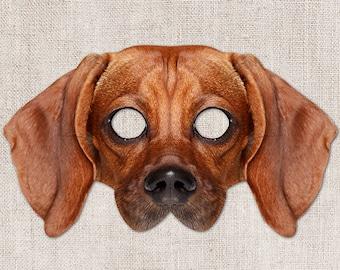 Dachshund Printable Mask, Dog, Photo-Real Dog Mask, Halloween Mask, Printable Mask, Dog Costume, Weiner Dog, Little Dog, Zoom Costume