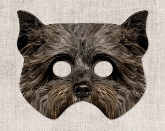 Toto Terrier Printable Mask, Dog, Terrier, Photo-Real Mask, Halloween Mask, Printable Mask, Toto Costume, Wizard of Oz, 2 Sizes, Zoom Mask