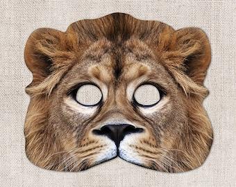 Mufasa Lion Printable Mask, Lion, Simba, Photo-Real Lion Mask, Halloween Mask, Printable Mask, Lion King, 2 Sizes, Mufasa Costume, Zoom Prop