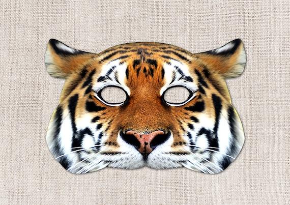 Tiger Printable Mask, Big Cat, Photo-Real Tiger Mask, Printable Halloween  Mask, Printable Mask, Tiger Costume, Animal Mask, 2 Sizes
