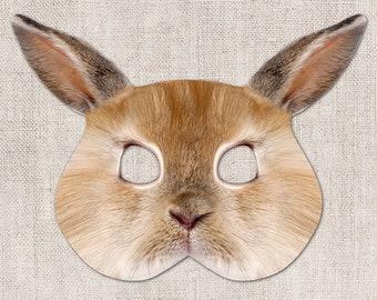 Bunny Printable Mask, Bunny, Rabbit, Basket, Photo-Real, Printable Easter Mask, Easter, Printable Mask, Animal Mask, 2 Sizes, Zoom Mask