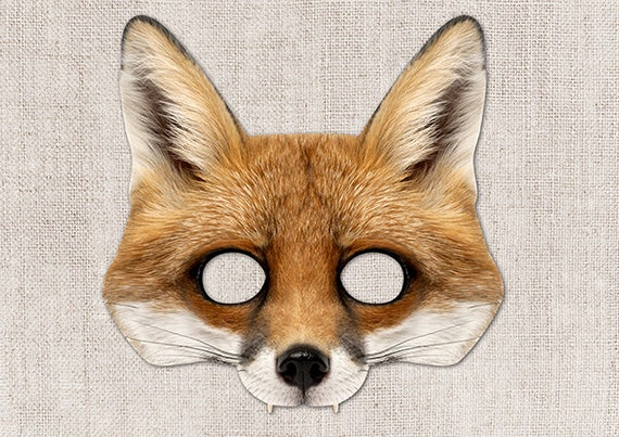 This is a picture of Amazing Fox Mask Printable