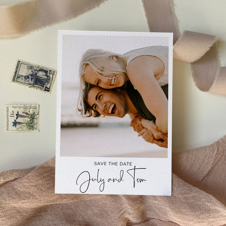 Save the Date Postkarte Polaroid