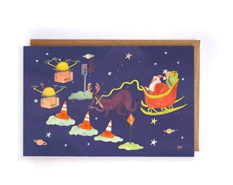Christmas card with reality increased/augmented reality christmas card