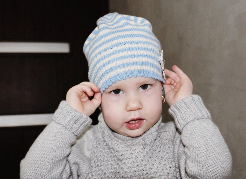 75bc42cc3d9 Hand Knit Toddler Hat Knitted Boys Hat Knit Girls Hat