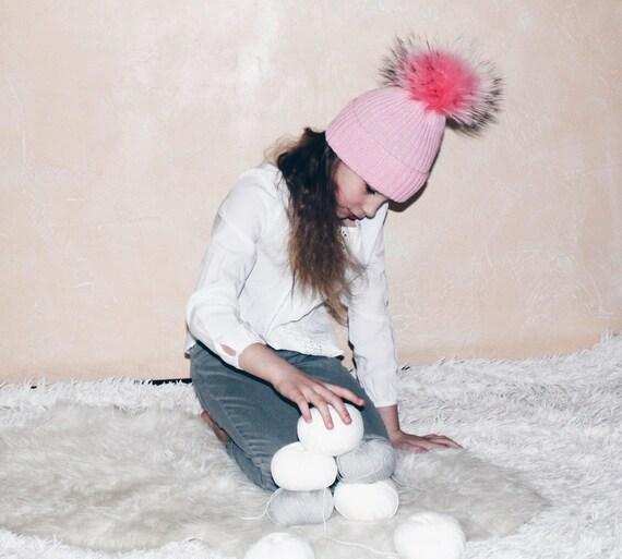 b030b1fbcbb6 Toddler Girl Knit HatWool Baby Girl Hat Toddler Girl Winter