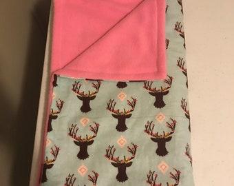 Fleece and Cotton baby blanket