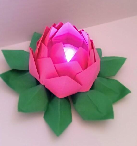 Origami lotusorigami tea light holderorigami flowerunique etsy image 0 mightylinksfo