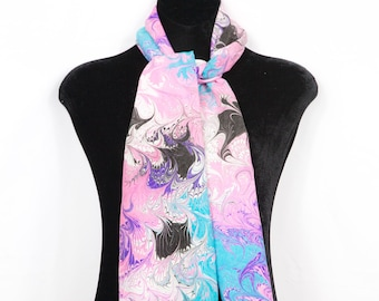 100% Hand Painted Bamboo Rayon Scarf/Table Runner