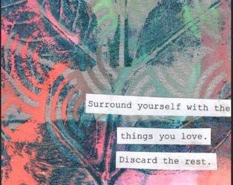 Surround yourself with the things you love Canvas