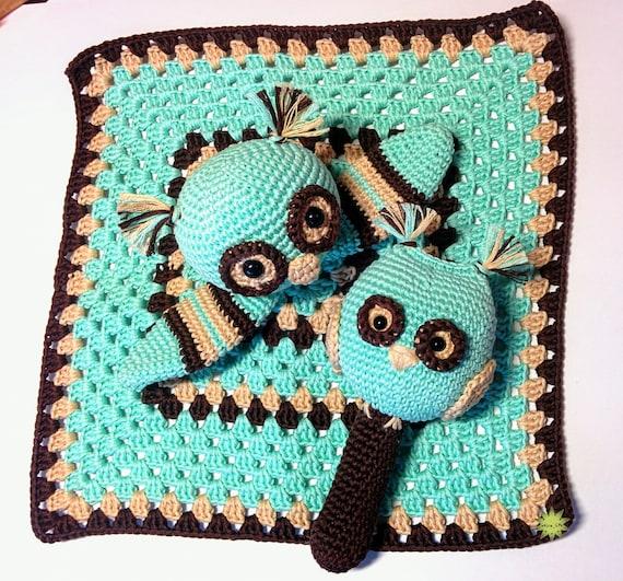 Two Patterns Owl Rattle Crochet Pattern Owl Lovey Crochet Etsy