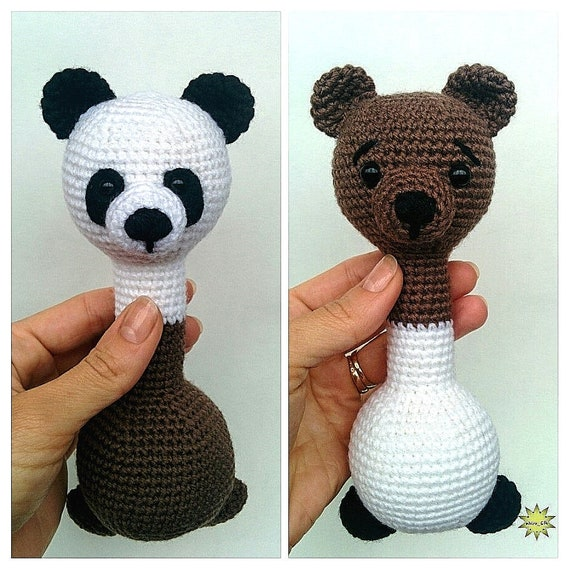 Ralph Panda and Baby amigurumi pattern - Amigurumipatterns.net   570x570