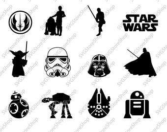 STAR WARS svg, star wars bundle svg, darth vader svg, star wars files svg, Dxf, Clipart Files for Silhouette Cameo or Cricut