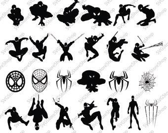 Spiderman svg Clipart Superheroes svg Spiderman silhouette stencil file cricut vector cut file cutting file vector files