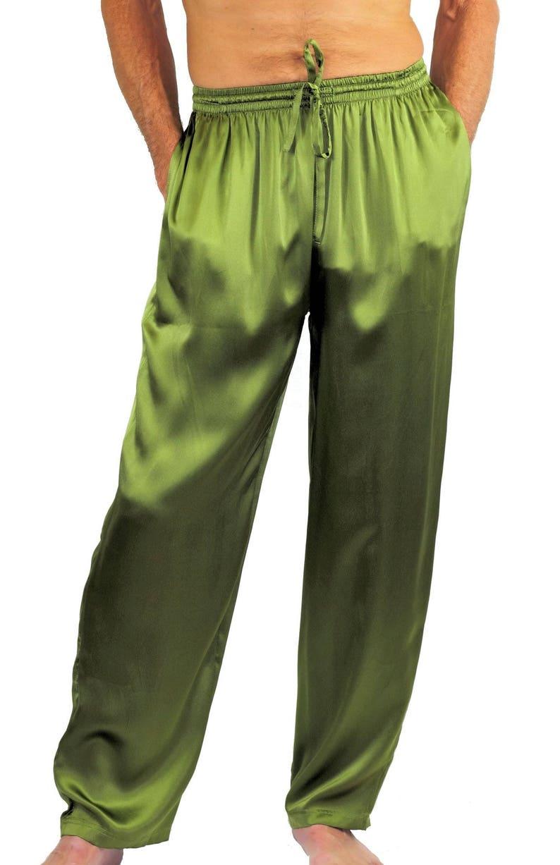 Personalized Men silk satin long pants Mens Silk Satin Pajamas Lounge Pants  Men Sleepwear Underwear Boxers Shorts Nightwear Men pajamas 5dd917bcd