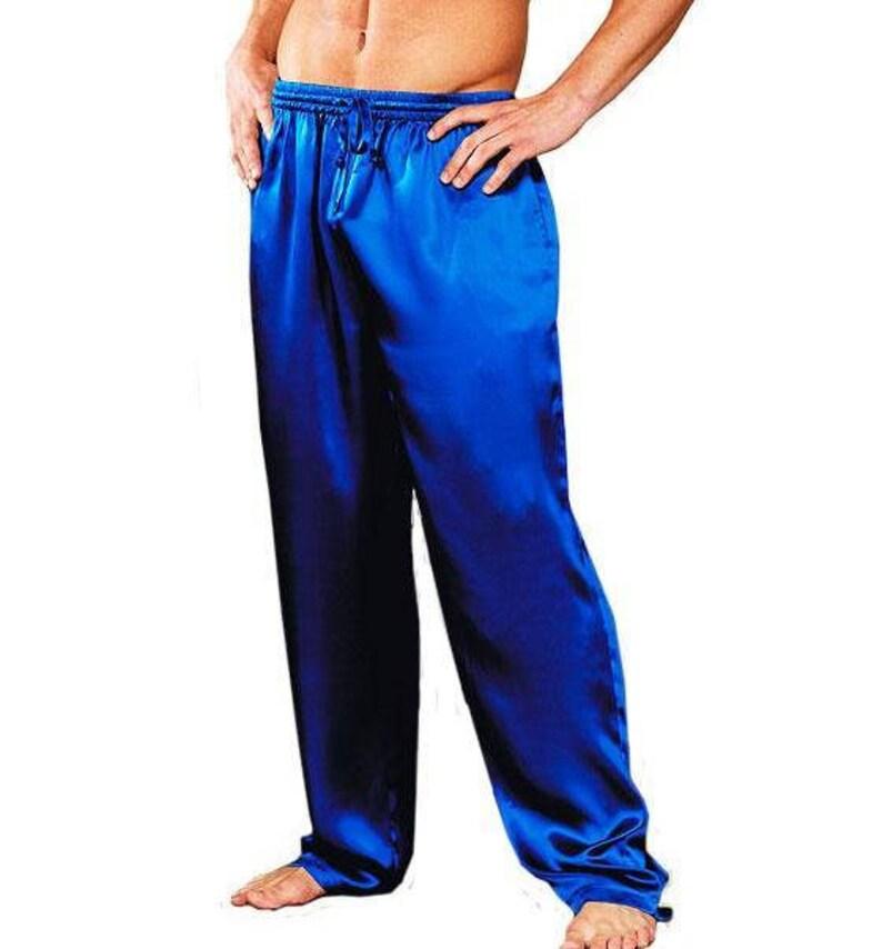 Custom made and Personalized Men silk satin long pants Mens  ab20abaa7