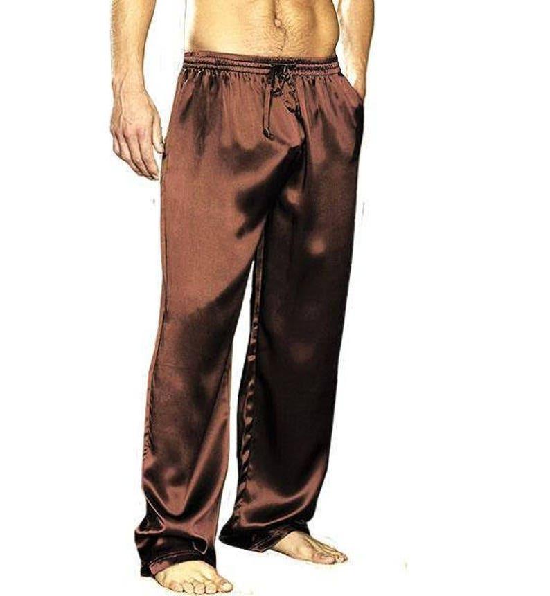 Custom made and Personalized Men silk satin long pants Mens Silk Satin  Pajamas Lounge Pants Men Sleepwear Underwear ... 85c11079a