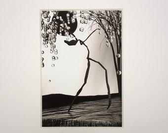 """Dance Art, Creature """"Unbridled"""", Limited Edition 5"""" x 7"""" matted giclee print"""