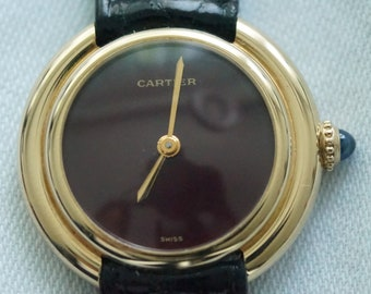 Cartier Vendome Ronde 18k with N.O.S. old stock label ever used ever worn