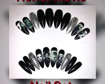 Horror Movie Nails Etsy