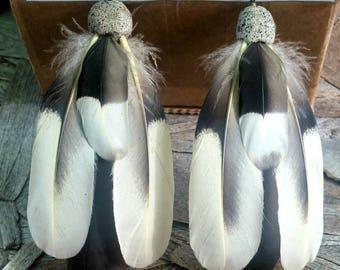 Merganser Duck Feather Earrings