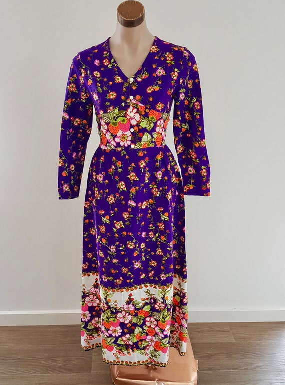 Vintage Strawberry Floral Dress, Ricki Renee, Aust