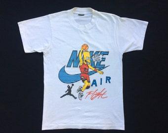 b62e745ee Vintage Bart Simpsons Nike Parody T Shirt