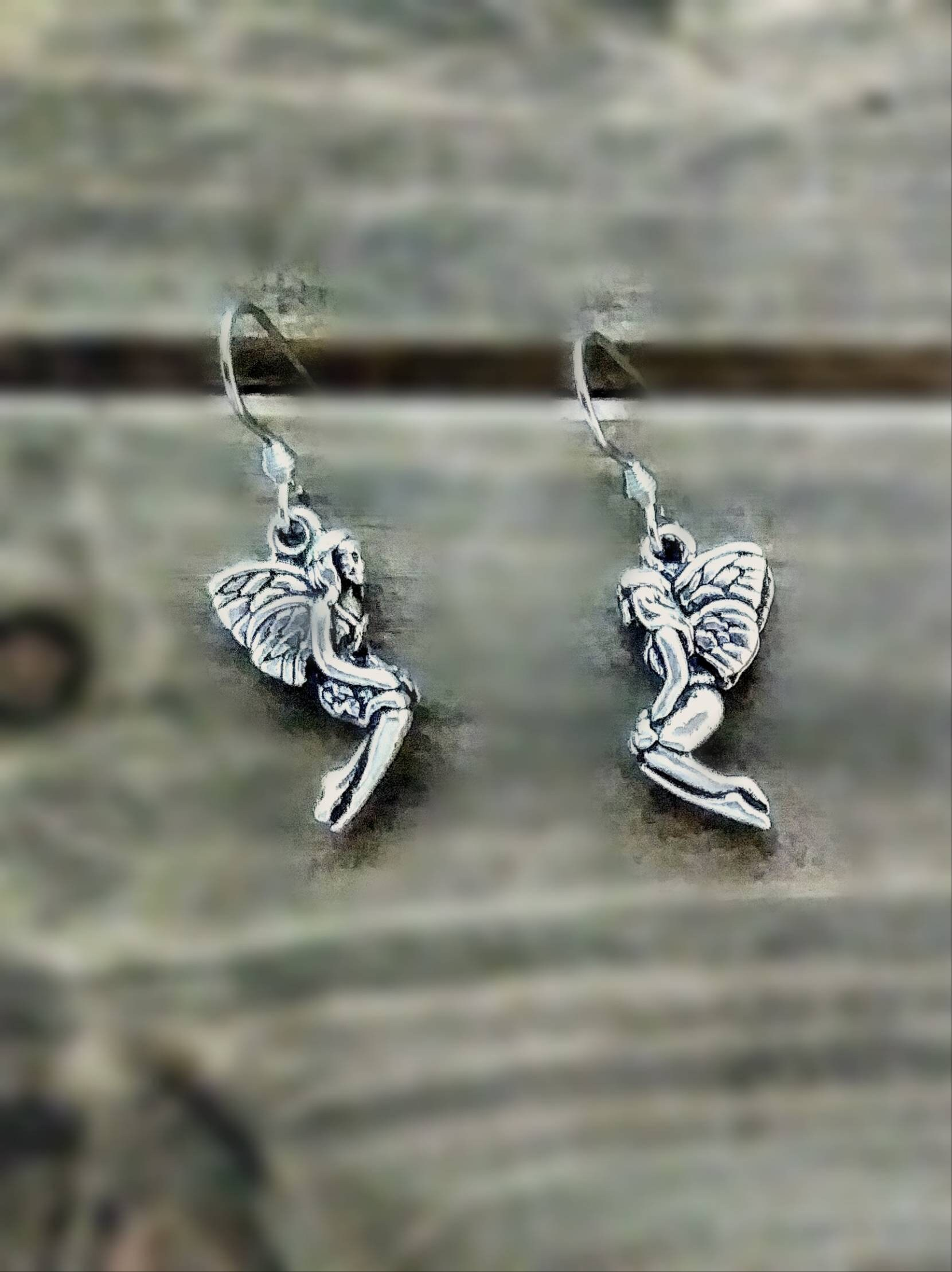 Fairy - Pewter Earrings- Stainless Steel ear wires - Kids