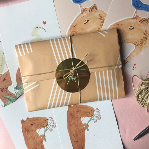 Capybara Love * Animal Greeting Card