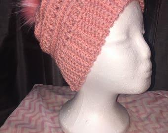 Women's Hand Crocheted Slouch Beanie