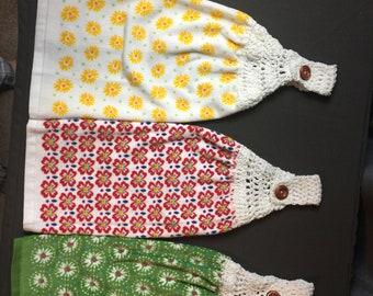 Crochet Top Towels Set Of 3