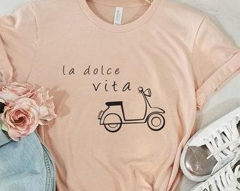 1a0c7bfe50 La Dolce Vita Women T-Shirt, Love Women T-Shirt, Cute Italian T-Shirt,  Amore Women Shirt, Bella Vita T-Shirt, Unisex T-Shirt, Italy Tees, 12