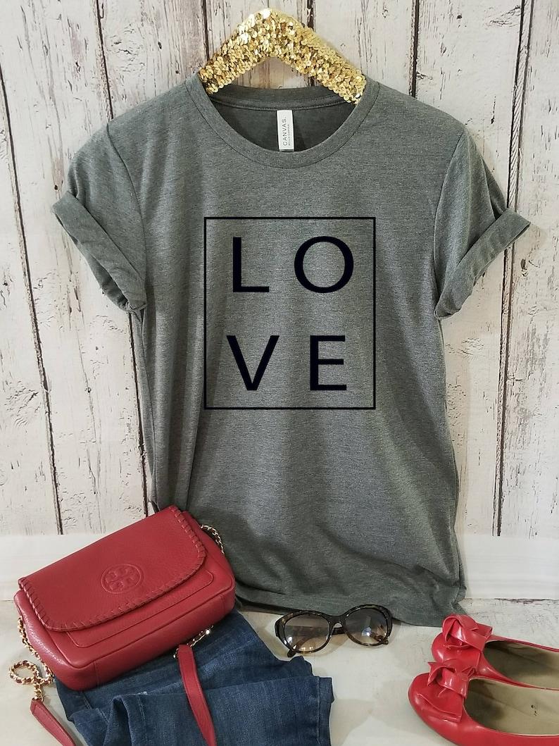 15108943b Women t-shirt Love women T-shirt Heart Tee Shirts for Her   Etsy