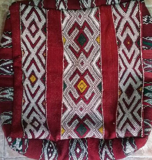 Floor Cushions From Old Rugs