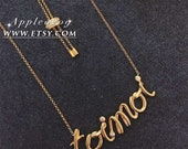 Monaco Necklace Exquisite Jewelry Golden 925 Sterling Silver Inlaid Crystal TOI ET MOI Necklace Adjustable Size