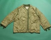 Vintage quilted short jacket U.S. Army M-65 military lining Vintage military liner jacket Olive green jacket MVES18-17