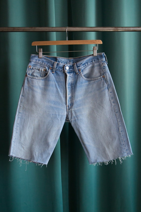 Levi's 501 vintage denim shorts made in USA / Vint