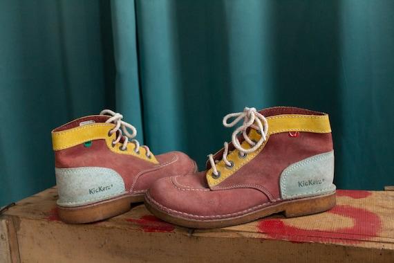 Vintage tricolour Kickers booties / Leather kicker