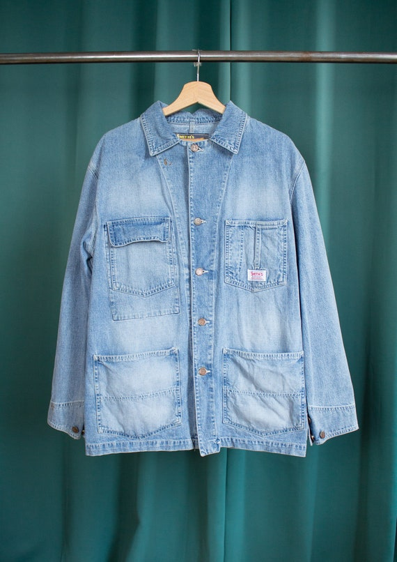 Smith's overall vintage denim jacket / American wo