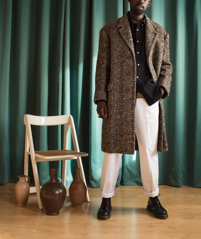 Vintage oversize wool long coat