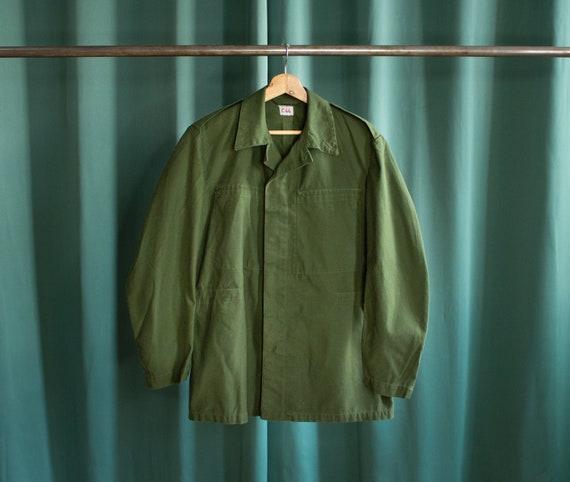 Vintage olive green Swedish army jacket